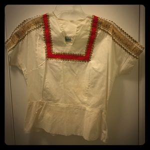 Tops - VINTAGE 60's Ivory Shirt - Great Condition!! 👀